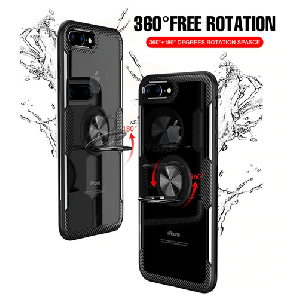 iPhone X/XS Shockproof Case with Ring