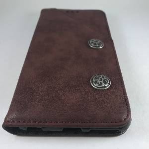 Cases iPhone 6Plus Retro Antique Finish PU Leather Case Red wine