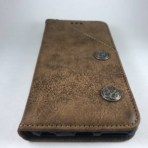 Cases iPhone 6Plus Retro Antique Finish PU Leather Case Brown