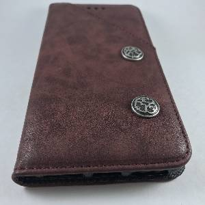 Cases iPhone 7Plus Retro Antique Finish PU Leather Case Red Wine